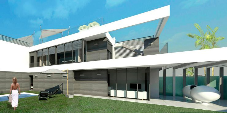 'ART, SUN & HOMES', 5 contemporary, linked villas in Orihuela Costa