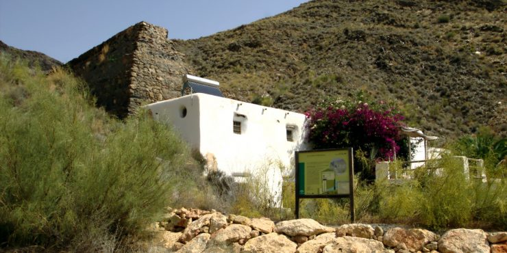 Eco-house: six hundred year old water mill in Carboneras