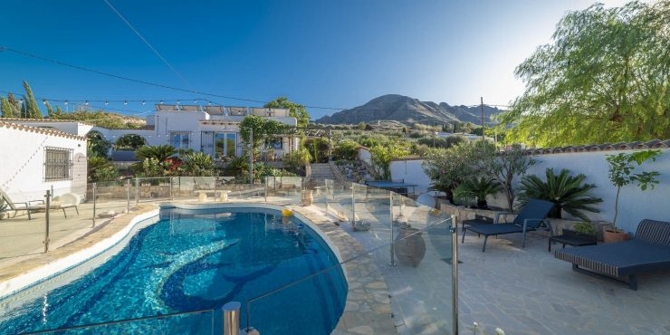 Solar Powered Property in Mojacar with villa, two separate guesthouses and pool