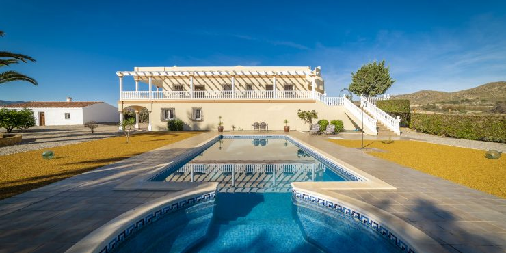 Country House in Vera with Guest Apartment, Renovated Cortijo and Pool